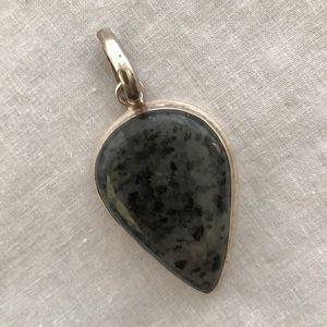 Sterling stone pendant